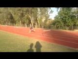 Тренировка в барьерном беге .