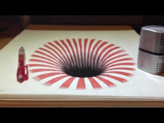 Drawing a Hole, Anamorphic Illusion