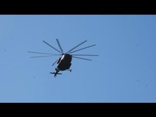 #вертолёт#военный#менделеево#полёт#осень#