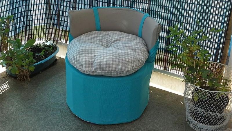 MANUALIDADES Silla hecha con 100%materiales reciclados💖DIY chair made with 100% recicled materials