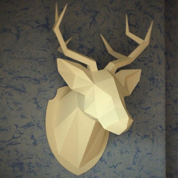 Как сделать голову оленя