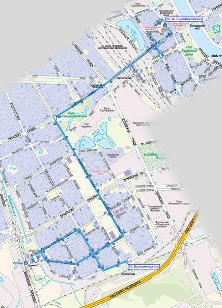 схема маршрута 56 автобуса