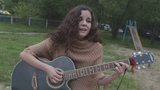 Красивая девушка красиво исполняет песню на стихи С.Есенина!
