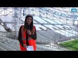Состояние строительства трибуны Жан Буэ на стадионе