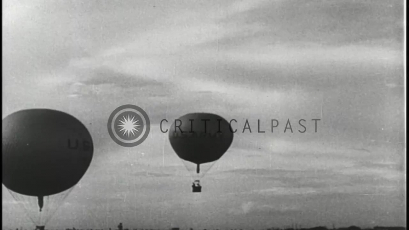 Balloons take off amidst large crowd in National Balloon Race in Houston, United ...HD Stock Footage