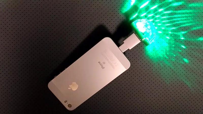 Световой прибор хрустальный шар USB