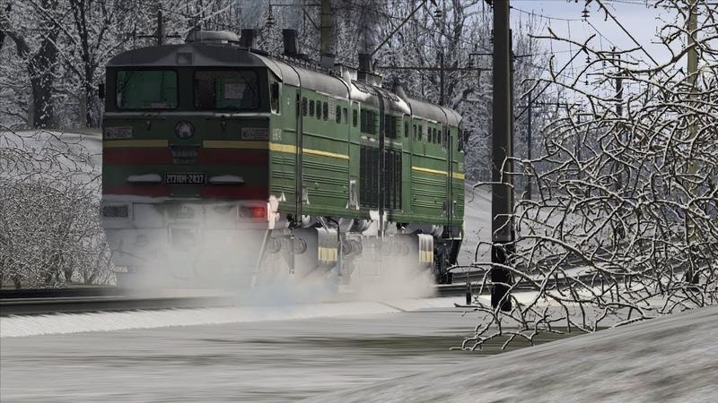 Запуск тепловоза 2ТЭ10М-2437 Train Simulator 2019