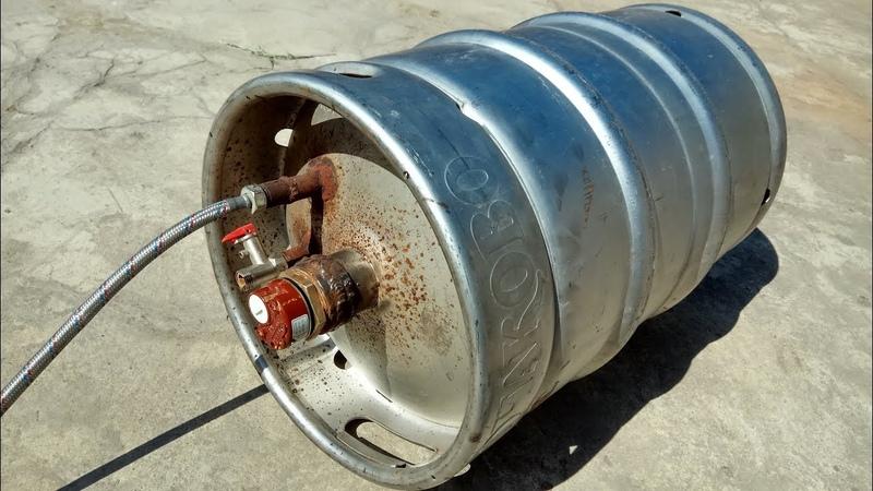 Самодельный водонагреватель из пивной кеги. Бойлер