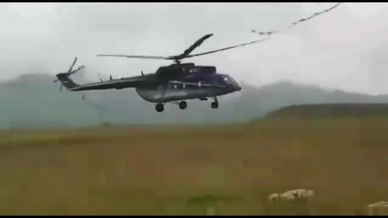 Авария вертолета Ми 171А2 во время испытаний