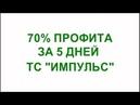 70% Профита за 5 дней. ТС Импульс (Форекс)