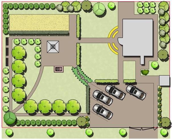 озеленение участков,