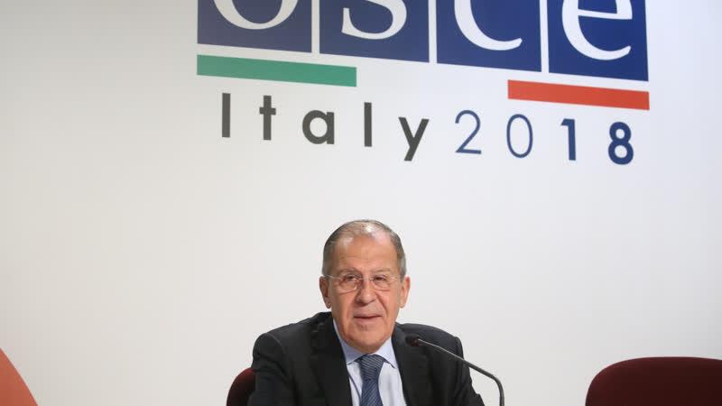 Пресс конференция С В Лаврова по итогам участия в 25 м заседании СМИД ОБСЕ в Милане