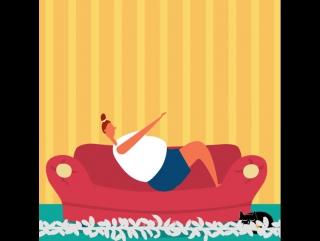 Эффективный фитнес на диване