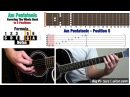 Guitar Lesson: Am Pentatonic Scale in 5 positions covering the fretboard w Animation and TAB