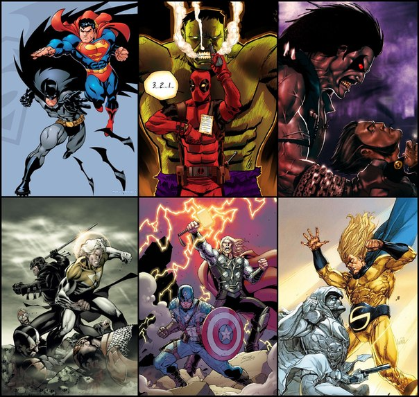 Superman vs hulk deadpool vs lobo wolverine vs apollo midnighter vs