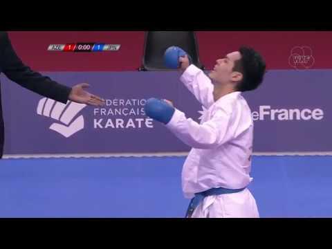 Rafael Aghayev (AZE) - Ken Nishimura (JPN) - Karate 1 Paris 2018 - Final Kumite Male -75Kg