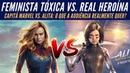 Capitã Marvel vs. Alita Anjo de Combate Análise Redpill