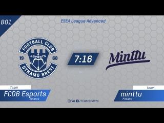 FCDB vs minttu | ESEA League Advanced [Kom]
