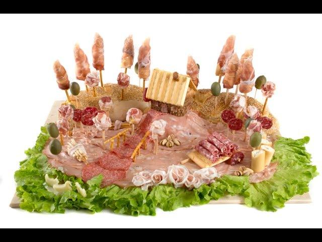 Пейзаж из хлеба, сыра и салями. Видеоруководство