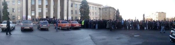 Выборы в ЛНР город Перевальск. 2\11\2014