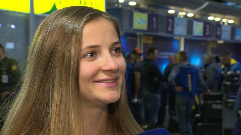 Юлия Журавок, биатлонистка сборной Украины. Интервью перед вылетом на сбор в Шушен. 1112018