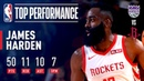 James Harden Records His FIFTH 50-Point TRIPLE-DOUBLE   March 30, 2019