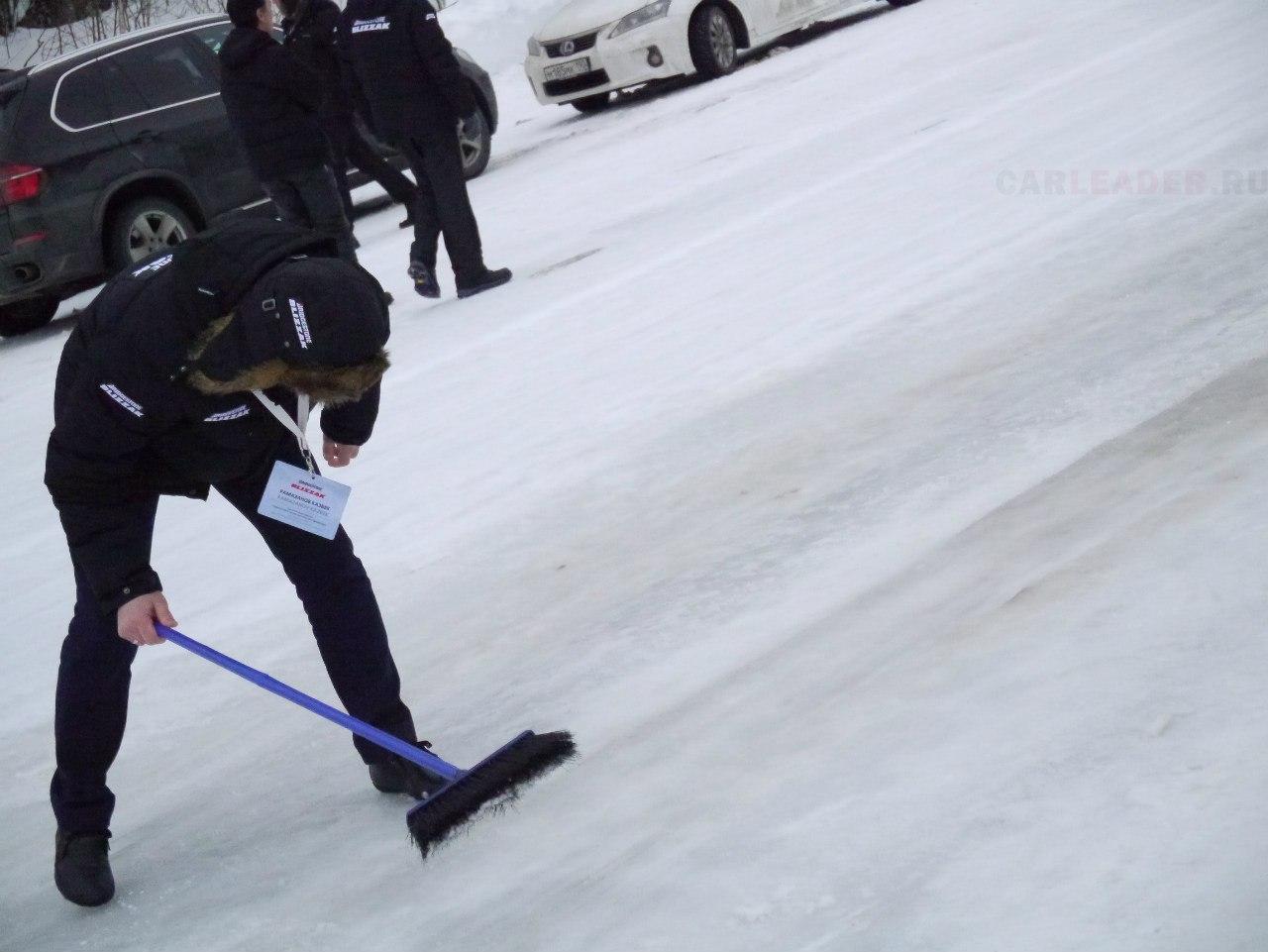 Тест зимних шин на льду