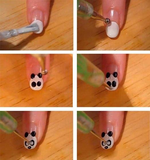Дизайн ногтей с пошаговой инструкцией