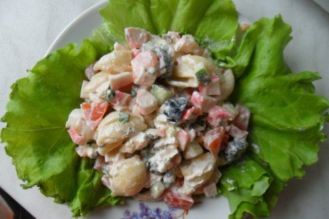Крабовый салат оригинальный фото