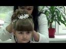 Прическа на выпускной в садик для Марички. Очень нежная и красивая прическа на длинные волосы
