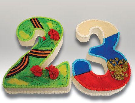 Тортики к 23 февраля) С праздником!