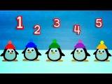 Развивающие мультики для самых маленьких: Учимся считать до 5, мультики для малышей от 1 года