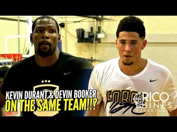 U CAN'T GUARD Kevin Durant Devin Booker!! CRAZY SCORING CLINIC at Rico Hines UCLA Run!