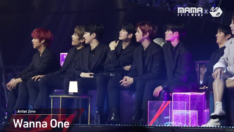 [VK][12.12.18] [2018MAMA x M2] Wanna One Reaction to MONSTA X Performance in JAPAN