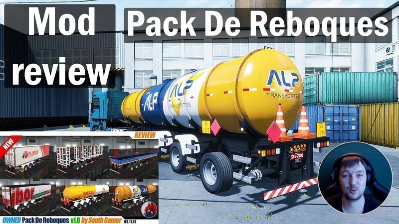 ETS2 1.32x MODS|Trailers Pack - Pack De Reboques|Обзор Модов Euro Truck Simulator 2