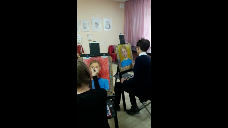 Мастер класс: портрет Вани, 6 класс студии БЕМБИ