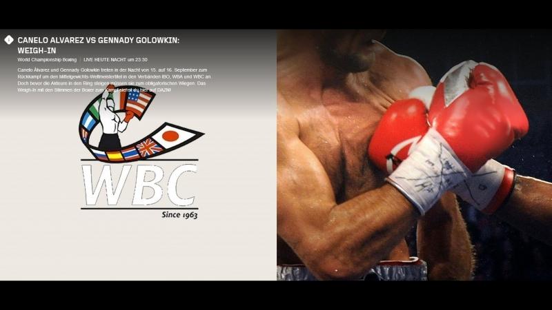Canelo Alvarez vs Gennady Golowkin: Weigh-In