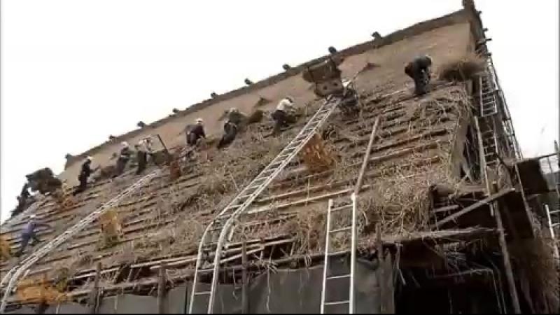 Соломенная крыша в японских домах