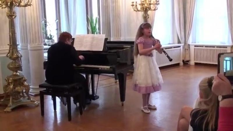 Шишкова Алиса 9 лет гобой Э Григ Песня Сольвейг