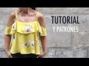 DIY Costura Blusa sin hombros patrones gratis
