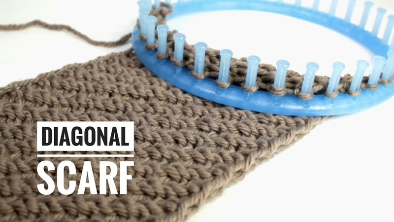 How to Loom Knit a Diagonal Infinity Scarf (DIY Tutorial)