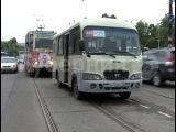Трамвай врезался в маршрутное такси в утренний час пик в Хабаровске. MestoproTV