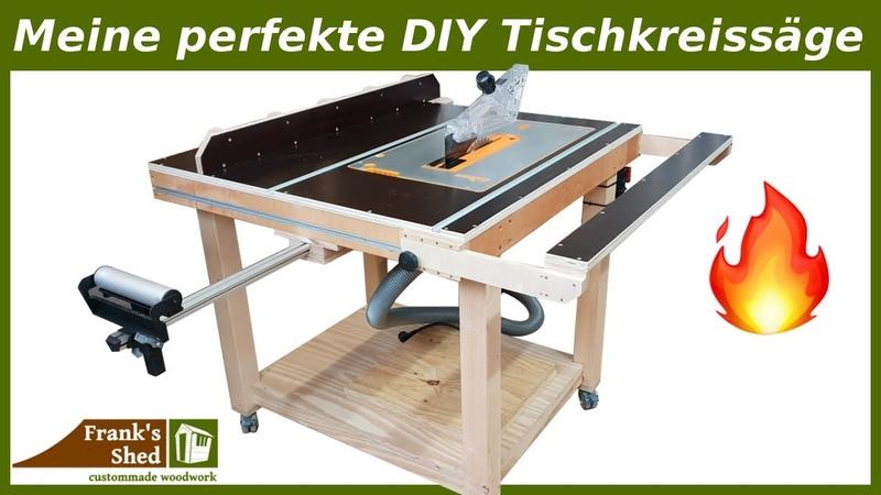 Meine perfekte DIY Tischkreissäge 🔥 Werkstatt einrichten selber bauen Bauanleitung