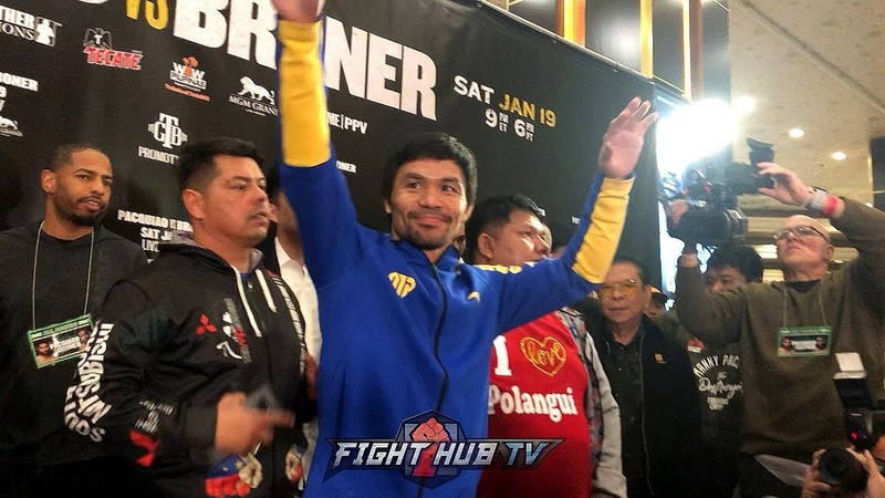 VEGAS STILL LOVES MANNY MANNY PACQUIAO'S LAS VEGAS GRAND ARRIVAL FOR HIS BRONER FIGHT