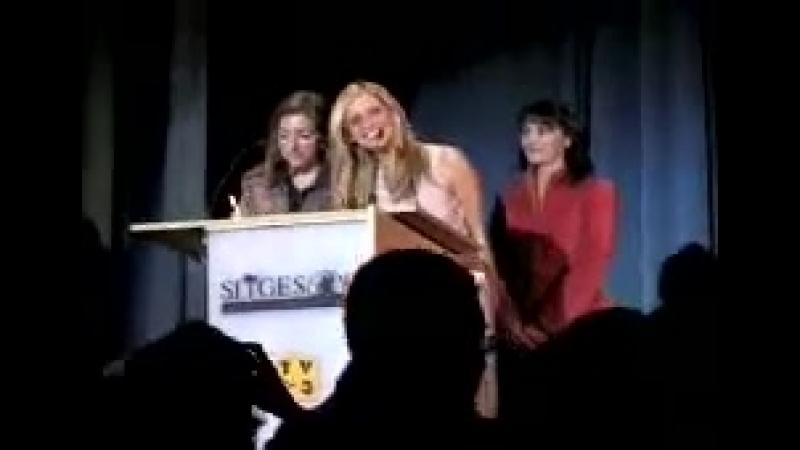 2004 12 07 Сара на презентации фильма Проклятие в рамках 37 го ежегодного кинофестиваля Sitges в Барселоне Испания
