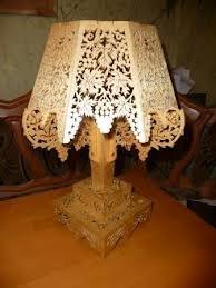 Выпиливание лобзиком - Ажурная лампа.