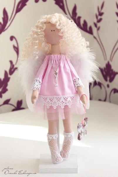 Куколка Ангелок по мотивам иллюстраций Сьюзен Вулкотт  По материалам Екатерины Онешко.