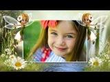 Шаблон для детских фото Волшебная страна