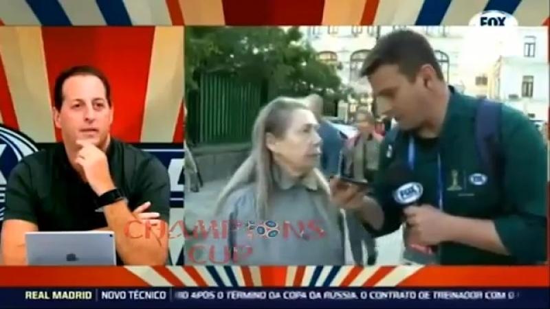 Бразильский журналист попытался взять интервью у обычной московской бабушки 😂