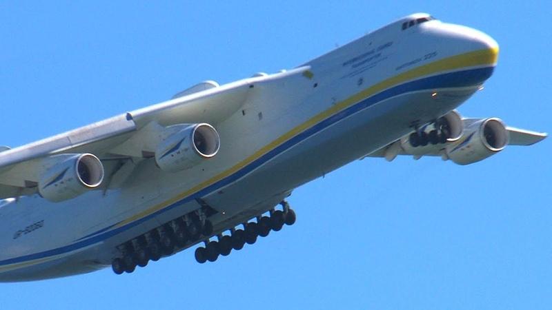 The Worlds Как приземляется самый большой самолет в мире видео Ан 225 Мрия Largest Airplane Landing in Oakland California ATC